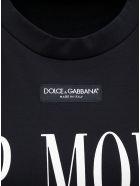 Dolce & Gabbana Black Cotton T-shirt With Top Model Front Print - Black