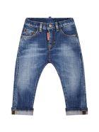 Dsquared2 Light Blue Jeans For Baby Boy - Denim