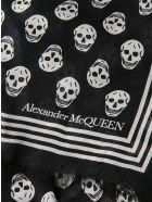Alexander McQueen Ca Biker Skull Print Scarf - Nero