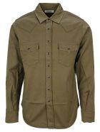 Saint Laurent Western Style Shirt - KHAKI GREEN