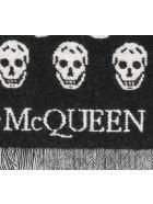 Alexander McQueen Double Face Skull Foulard - Nero e Avorio