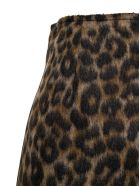 Jucca Animalier Wool Blend Skirt - Brown