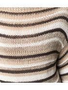 Antonelli Beige Cotton And Linen Blend Jumper - Beige+marrone