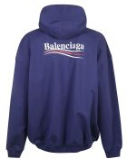 Balenciaga Large Fit Hoodie - Pacific Blue/White