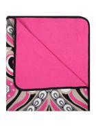 Emilio Pucci Multicolor Blanket For Baby Girl - Fuchsia