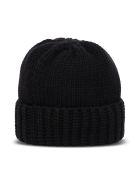 Saint Laurent Black Cashmere Hat With Logo - Black