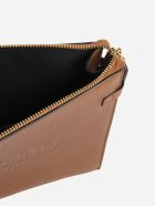 Valentino Garavani Pouch Made Of Leather With Embossed Logo - Saddlery
