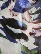 Alexander McQueen Still Life Patchwork Scarf - Blu