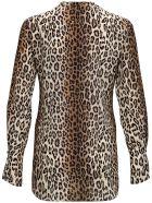 Antonelli Animalier Silk Blouse - Brown