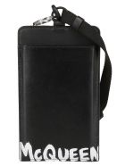 Alexander McQueen Black Leather Smartphone Case - Black