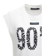 Dolce & Gabbana White Cotton T-shirt With 90's Front Print - White