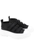 Gallucci Black Sneakers For Kids With Logo - Black