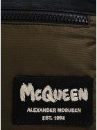 Alexander McQueen Crossbody Bag In Nylon With Logo - Green