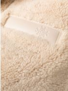 Mr & Mrs Italy Elizabeth Sulcer's Capsule Cotton Drill, Shearling And Leather Parka For Woman - SAND / BEIGE