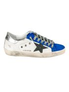 Golden Goose Super-star Classic Sneakers - White/Royal Blue