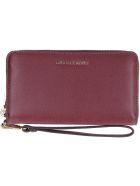 Michael Kors Wristlets Grain Leather Wallet - Burgundy