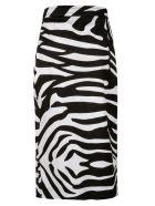 Dsquared2 Zebra Pattern Print Slim Skirt - Black/White