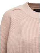 Isabel Marant Billie Wool And Cashmere Long-sleeved Sweater - Beige