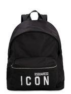 Dsquared2 Logo Detail Nylon Backpack - Nero