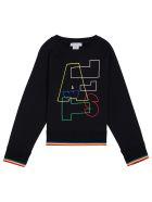 Stella McCartney Kids Black Cotton Sweatshirt With Print - Black
