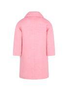 Simonetta Pink Coat For Girl - Pink