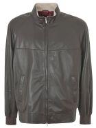 Brunello Cucinelli High-neck Leather Jacket Brunello Cucinelli - BROWN