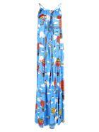 Alessandro Enriquez 'italian Dreams' Viscose Dress - Blue