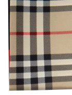 Burberry Logo Print Check Scarf - Archive Beige/Red