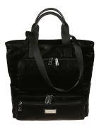 Dolce & Gabbana Logo Plaque Top Handle Tote - Black