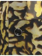 Givenchy Yellow And Black Animalier Silk Georgette Shirt With Zip - Black/yellow