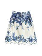 Zimmermann Aliane Linen Skirt - Multicolor