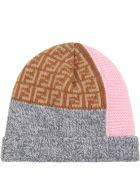 Fendi Multicolor Hat For Baby Girl - Multicolor