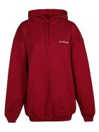 Balenciaga Oversized Logo Hoodie - Rosso e Bianco