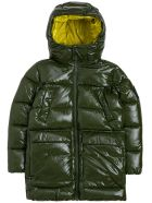 Save the Duck Green Down Jacket In Padded Nylon - Green