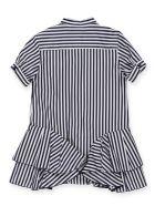 Alberta Ferretti Striped Chemisier Dress - BLUE