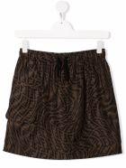 Fendi Ff Brown Nylon Skirt - Brown