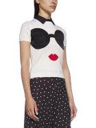 Alice + Olivia T-Shirt - Soft white black