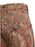 Etro Paisley Cotton Blend Trousers - Multicolor