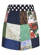 Dolce & Gabbana Multi-patched Denim Skirt - Multicolor
