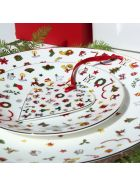 Taitù Set of 4 Dinner Plates - Noel Oro Collection - Multicolor and Gold