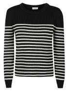 Saint Laurent Striped Knit Jumper - Nero