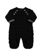 Balmain Black Set For Babykids With Black Logo - Black