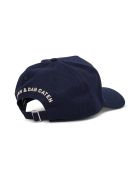 Dsquared2 Blue Cotton Hat With Logo Patch - Blu