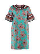 La DoubleJ Walk The Dog Printed Cotton Dress - Multicolor