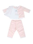 Givenchy Pink Tracksuit For Baby Girl - Pink