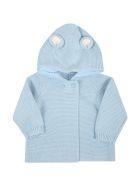 Stella McCartney Kids Light Blue Cardigan For Baby Boy With Ears - Light Blue