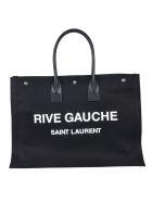 Saint Laurent Rive Gauche Printed Tote - Black