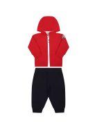 Moncler Multicolor Tracksuit For Baby Boy With Iconic Patch - Multicolor