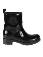 Moncler Side Logo Patch Boots - Nero