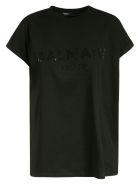 Balmain Embellished Logo T-shirt - Black